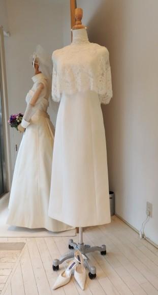 4b351c0cd144f リバーレースのボレロ×ジャガード素材のミディ丈ドレス