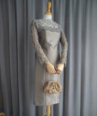 レースのボレロ付ワンピースドレス