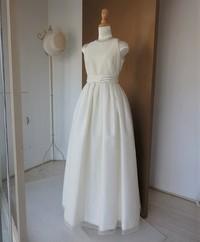 アメリカンスリーブギャザータックドレス